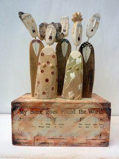 drewniane figury Lynn Muir czyli co można zrobić z  kawałków drewna #wood