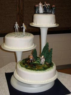 My awesome Star Wars wedding cake