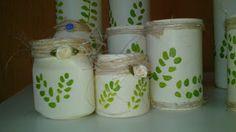 Rosângela Vig Artesanato e decoração: potinhos e garrafas decorados