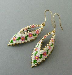 New PDF Beaded Earrings Tutorial Earrings by DiushesPatterns