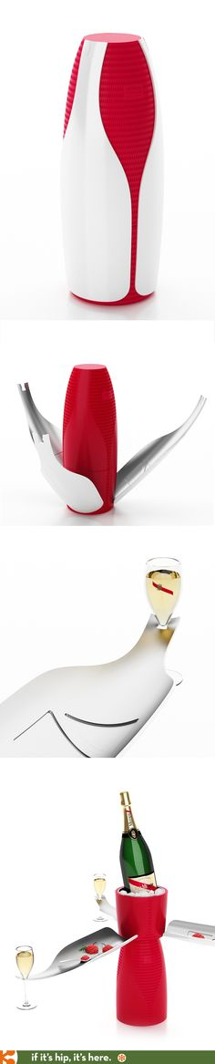 Israeli designer Noma Bar's unusual packaging for G.H. Mumm doubles as a server for the perfect pairings. Available starting November 15th for just under $1900 USD