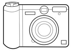 Simple camera coloring page