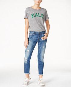 34.00$  Buy here - http://vicfp.justgood.pw/vig/item.php?t=ewcnn845477 - Sub_Urban Riot Kale Graphic T-Shirt & Flying Monkey Ripped Jeans 34.00$