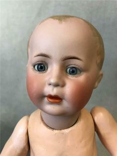 ANTIQUE 14 INCH Simon and Halbig German bisque 1498 character baby closed mouth - $995.00 | PicClick Antique Toys, Vintage Antiques, Vintage Items, Doll Toys, Baby Dolls, Creepy Dolls, Doll Parts, Baby Body, Bisque Doll