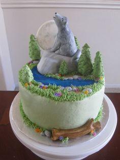 Ms Cakes Wolf Cake cakepins.com