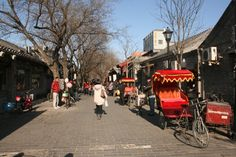 """""""Hutongs"""" - narrow streets in Beijing old quarter"""