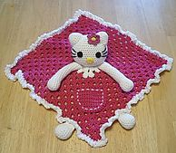 Ravelry: Hello Kitty Lovey Blankie pattern by Knotty Hooker Designs