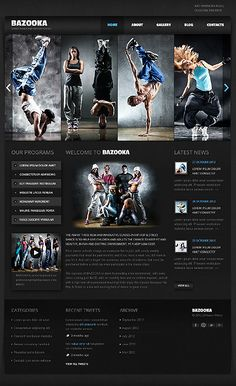 Free HTML5 Template for Dance Studio to start or re-shape a site ...