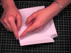 How to make a box envelope for dimensional cards.