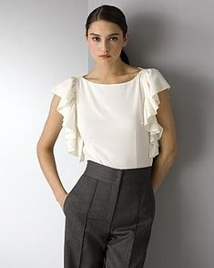 ruffle blouse. simple