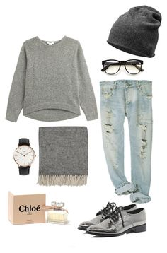 """# day of continuous f*** ups"" by mimieeux ❤ liked on Polyvore featuring Helmut Lang, Daniel Wellington, River Island, By Nord, Chloé and Wildfox"