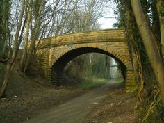 A bridge across the old railway line in Wetherby - UK.