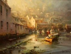 Sharing The World Together: Artist Ivars Jansons Watercolor Landscape, Landscape Paintings, Landscapes, Overseas Travel, Old Paintings, Outdoor Art, Leiden, Watercolor Techniques, Creative Photography
