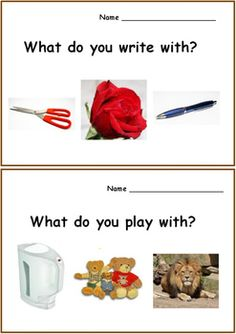 What Questions Autism Worksheets for SPED, Speech Therapy Set 2 Source Speech Therapy Worksheets, Speech Activities, Toddler Learning Activities, Speech Language Pathology, Speech Therapy Activities, Speech And Language, Sequencing Worksheets, What Questions Speech Therapy, What If Questions