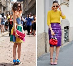 With her Cindy Crawford-esque mole and molto glamorous wardrobe, Italian blogger Eleonora Carisi is our new sartorial crush. The Grazia.it contributor and fashion week regular stops street style photographers in their tracks with her color clashing separates and bold day dresses.