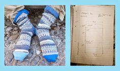 Socks made on knitting machine