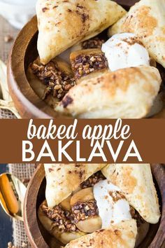 Factors You Need To Give Thought To When Selecting A Saucepan Baked Apple Baklava - A Delicious Twist On A Classic Dessert Easy No Bake Desserts, Homemade Desserts, Sweet Desserts, Dessert Recipes, Dessert Dips, Healthy Desserts, Delicious Desserts, Dinner Recipes, Best Apple Recipes