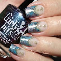 Negative Space Smoosh Marble Nail Art Design and Tutorial with Girly Bits indie…