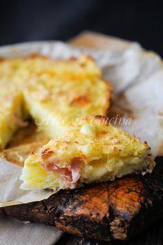 Schiacciata di patate veloce con prosciutto vickyart arte in cucina