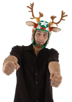 94882d0ba46 Top Quality Xmas elope Racing Reindeer Helmet Hat