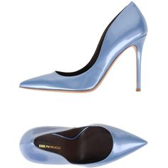 Bruno Magli Court (425 CAD) ❤ liked on Polyvore featuring shoes, pumps, sky blue, heels stilettos, stilettos shoes, stiletto heel pumps, leather sole shoes and stiletto heel shoes