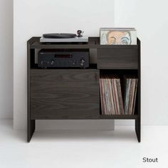 Unison Record Player Stand Stout Vinyl Record Cabinet, Vinyl Record Storage Shelf, Record Player Cabinet, Record Player Stand, Stereo Cabinet, Turner House, Floor Standing Speakers, Walnut Cabinets, Entertainment Furniture