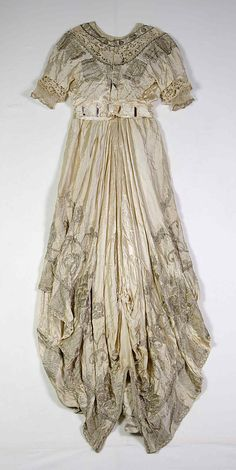 Evening dress Callot Soeurs  (French, active 1895–1937)  Designer: Madame Marie Gerber (French) Date: 1914 Culture: French Medium: Silk, metallic. Back