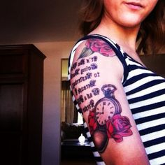 """""""It's no use going back to yesterday because I was a different person then"""" Alice in wonderland tattoo"""