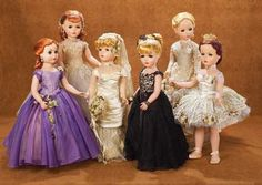 "Madame Alexander 6 Mystery Portrait Dolls, ""Arlene Dahl"" (Maggie)   Champs Elysees (Maggie)   (Lady with the Rhinestone Beauty Mark)   ""Deborah Bride"" (Margaret)   ""Judy"" (Margaret)   ""Kathryn Grayson"" (Margaret)"