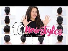 TOP 10 ★ LAZY - RUNNING LATE HAIRSTYLES & HACKS for FRIZZY HAIR - EASY!   | Spring Peinados - YouTube