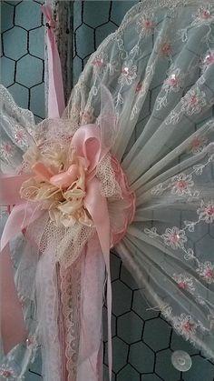 Rosa Engelsflügel Flügel Vintage Draht Shabby Chic Hochzeit