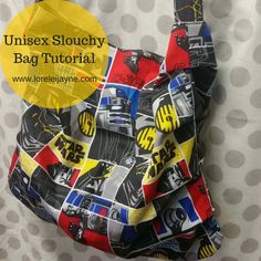 One Yard Slouchy Bag Pattern - Learn how to make a bag with this slouchy bag DIY for kids.