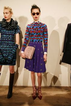 J.Crew Fall 2013 Runway: J.Crew Fall 2013 - Love the colors and mixed patterns
