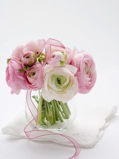 Fabulous bouquets in pink and purple