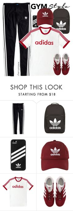 """90s gym class 😂"" by cherrysnoww ❤ liked on Polyvore featuring Madewell and adidas"