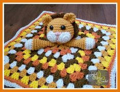 Lion Lovey Blanket from Joyful Yarns Crochet Crochet Lovey, Crochet Blankets, Baby Blankets, Crochet Yarn, Free Crochet, Baby Lovies, Lovey Blanket, All Craft, Chrochet