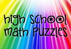 High School Math Puzzles