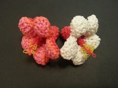 Rainbow loom Hibiscus Flower take 2 (better camera angle) - YouTube