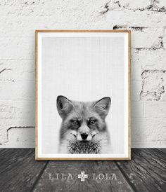 Fox Print Woodlands Decor Wilderness Fox Wall Art por LILAxLOLA