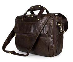 First Layer Cowhide Leather Messenger Bags Men Casual Briefcase Business Shoulder Bag Large Laptop Handbag Bag Men's Travel Bag Leather Laptop Bag, Leather Briefcase, Business Briefcase, Business Laptop, Business Travel, Leather Bags, Office Bags For Men, Laptop Messenger Bags, Laptop Bags