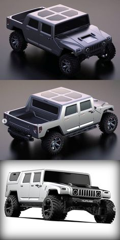 """With all this talk about GM's defunct """"Hummer"""" brand, what with the coming GMC Hummer electric truck, plent. Hummer Truck, Hummer H1, Gmc Trucks, Pickup Trucks, Truck Bed Caps, Electric Truck, Bugatti Cars, Four Wheel Drive, Batmobile"""