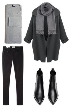 Minimal + classic: black + grey by trendsy look fashion, casual women's fashion, Winter Chic, Casual Winter, Fall Winter, Winter Wear, Mode Outfits, Winter Outfits, Casual Outfits, Fashion Outfits, Womens Fashion