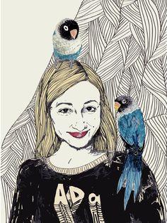 Portrait by Justyna Wasiluk, via Behance