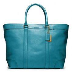 Coach Bleecker Legacy Leather Weekend Tote ($658) via Polyvore