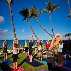 Johanna Waters - yoga class in maui