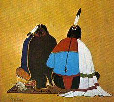 Kiowa/Comanche Painting by Monroe Tsa-Toke Native American Church, Native American Decor, Native American Paintings, Native American Images, Native American Artists, Native American History, Indian Paintings, American Indians, Modern Indian Art