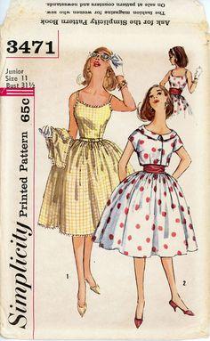 1960s Full Skirt Dress and Bolero Pattern Bust 31 by CynicalGirl