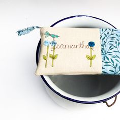 spring wedding clutch personalized bridesmaid di mamableudesigns, $42.00