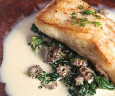 Neah Bay Halibut with Creamed Nettles and Morels from 'Lark'