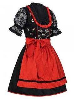 Dirndl rot schwarz Oktoberfest